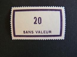 FICTIFS NEUF ** N°F101 SANS CHARNIERE (FICTIF F 101) - Phantomausgaben