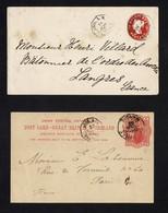 CHANNEL ISLANDS JERSEY 1893 BOITE MOBILE GRANVILLE - 1840-1901 (Victoria)