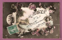Cpa Fantaisie Un Baiser De Saint Laurent En Brionnais -  Otto N°881 - Autres Communes