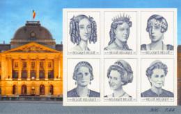 Belgium BL 089**  Les 6 Reines Belges  Année 2001  3 - Blocks & Sheetlets 1962-....