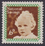 GB 6d & 2/6. NATIONAL SAVINGS PRINCESS ANNE & PRINCE CHARLES - Cinderellas