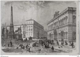 Italie, Le Palais Du Quirinal, Résidence Du Roi D'Italie, Pendant Son Séjour à Rome -  Page Original - 1871 - Documentos Históricos