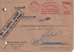 ALLEMAGNE  1944 LETTRE EMA DE BERLIN ZURUCK PAR FELDPOST - Germany
