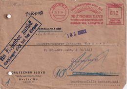 ALLEMAGNE  1944 LETTRE EMA DE BERLIN ZURUCK PAR FELDPOST - Alemania
