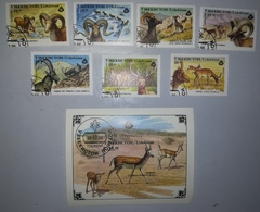 UZBEKISTÁN 1996 ANIMALES ANIMALS FAUNA FAUNE WILDLIFE SERIE COMPLETA - Uzbekistan