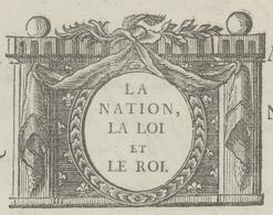 Héraldique Colmar 1792 La Nation, La Loi Et Le Roi Droit De Patente - Rouffach, Lapoutroy, Ste Marie, Bollwiller - Documents Historiques