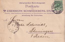 ALLEMAGNE 1897 CARTE DE SCHMIEDEBERG - Covers & Documents