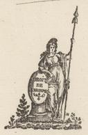 Héraldique Strasbourg An 2 - 12.9.1794  Signature Foussedoire Sujet : Prêtres, Curé Oberhergheim - Historische Documenten