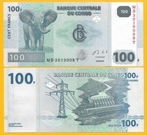 D.R. Congo 100 Francs P-98b 2013 UNC Banknote - Congo