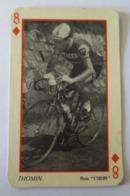 CARTE A JOUER Ancienne 8 Carreaux Coureur THOMIN - Cyclisme