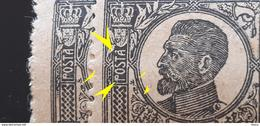 "Errors Romania 1918-20 King Ferdinand 1ban With Error Letter ""A"" Misplaced Image Perforation. Unused - Variedades Y Curiosidades"