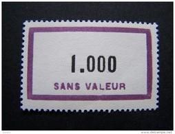 FICTIFS NEUF ** N°F139 SANS CHARNIERE (FICTIF F 139) - Phantomausgaben