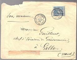 1er CORPS QUARTIER GÉNERAL 1885 > Lille (941) - 1876-1898 Sage (Tipo II)