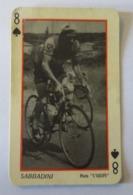 CARTE A JOUER Ancienne 8 Pique Coureur SABBADINI - Cyclisme