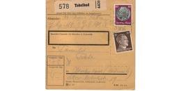 ALLEMAGNE  /  COLIS-POSTAL  /  De Tobelbad / 16-3-43 - Germany