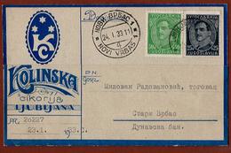 "YUGOSLAVIA-SLOVENIA, ADVERTISEMENT MARK ""KOLINSKA CIKORIJA"" LJUBLJANA 1933 RARE!!! - Slowenien"