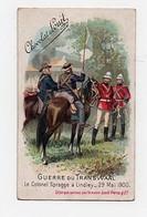 CHROMO Chocolat Louit Guerre Du Transwaal Le Colonel Spragge à Lindley 29 Mai 1900 Militaires Militaria Chevaux - Louit
