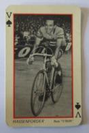 CARET A JOUER Ancienne Valet De Pique Coureur HASSENFORDER - Cyclisme