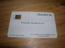 Telecarte 50u Privee D553 D 553 Eddie Barclay Carte De Visite TTB Peut Etre Neuve - Privées