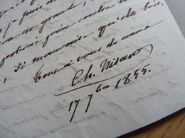 Charles NISARD (1808-1890) LITTERATEUR Et PHILOLOGUE. Académie BL. Frère Charles & Auguste Nisard - AUTOGRAPHE - Autografi