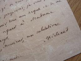 Joseph MICHAUD (1767-1839) Pamphlétaire ACADEMIE FRANCAISE. Autographe - Autographes