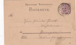 ALLEMAGNE 1889   ENTIER POSTAL/GANZSACHE/POSTAL STATIONERY CARTE  DE EHRENSTETTEN - Stamped Stationery