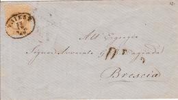 (St.Post.).Austria.1867.-15kr Bruno (36) SPL Su Busta.Annullo In Ovale Con Data E Anno Di Trieste (p5) (247-15) - Briefe U. Dokumente