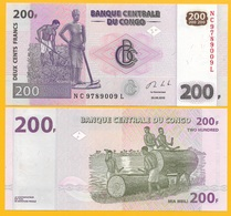 D.R. Congo 200 Francs P-99 2013 UNC Banknote - Congo