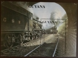 Guyana 1990 Railway Trains Steam Locomotives Minisheet MNH - Guiana (1966-...)