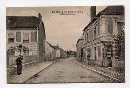 - CPA LA CROIX-EN-BRIE (77) - La Rue Des Ecoles - Collection Pinquier - - France