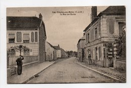- CPA LA CROIX-EN-BRIE (77) - La Rue Des Ecoles - Collection Pinquier - - Francia