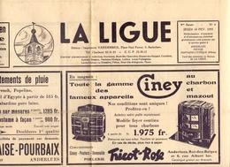 Gazette Publicité Reclame - La Ligue - Anderlues - Charleroi - 1955 - Kranten