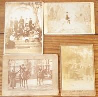 Famille De Ferdinand De Lesseps Dans Le Parc Du Château De La Chesnaye (Guilly - Indre) En 1896 - Ancianas (antes De 1900)