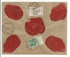 ASSURÉ 2000Fr.Pellens 5c&50c No.110&115 Huy-Hoei29.9.13 Vers Ans - 1912 Pellens