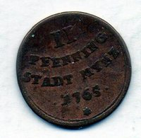 GERMAN STATES - AUGSBURG, 2 Pfennig, Copper, 1765, KM #169 - [ 1] …-1871 : Duitse Staten