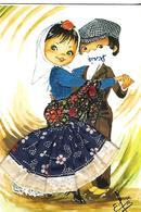 CPSM COSTUMES Carte Avec Tissus Signée ESPAGNE - Costumes