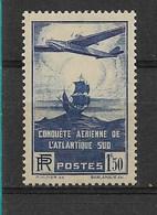 100° TRAVERSEE ATLANTIQUE      N°320 **   NEUF SANS CHARNIERE      COTE  40 - Francia
