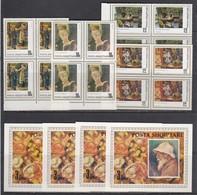 Albania 1991 - Pierre Renoir, Mi-Nr. 2466/69+Bl. 93, 4x, MNH** - Albania