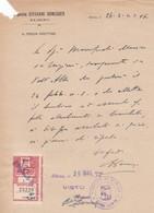 DOCUMENTO -  ALBINO (BERGAMO) OSPEDALE GIOVANNI HONEGGER  ALBINO - IL MEDICO DIRETTORE - 1943 - Historische Dokumente