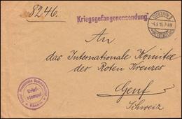 Kriegsgefangenensendung Königl. Preuss. Kammandantur CÜSTRIN ALTSTADT 4.5.1914 - Deutschland