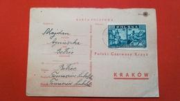 POLOGNE - CARTE LETTRE 1946 - 1939-44: 2ème Guerre Mondiale