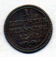 GERMAN STATES - BAMBERG, 1 Pfennig, Copper, 1761, KM #128 - [ 1] …-1871 : Duitse Staten