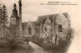 Champeaux -   église  Et  Cimetière. - Autres Communes