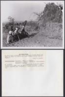 """CONGO BELGE PHOTOS C.LAMOTE (24X18 Cm) 1950 """"TROIS INDIGENES BALUBA """" REGION DE MWANZA(7G) DC-5219 - Afrika"""