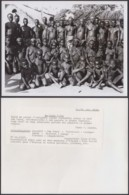 """CONGO BELGE PHOTOS C.LAMOTE (24X18 Cm) 1950 """" INDIGENES  BAYAKA AUTOUR DU CHEF SWA TENDE """" (7G) DC-5231 - Africa"""