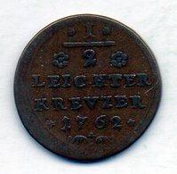 GERMAN STATES - BAMBERG, 1/2 Kreuzer, Copper, 1762, KM #129 - Monedas Pequeñas & Otras Subdivisiones