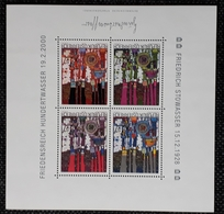 Österreich 2000, Hundertwasser Block 17, MNH Postfrisch - 1945-.... 2nd Republic