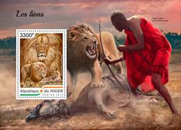 NIGER 2018 - Lions, Archery - Mi B880 - Tiro Al Arco