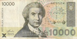 5 BILLETS 10000,2000,1000,5,1 - Croatia