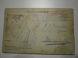 Allemagne. Bavière. Très Rare Carte à Système (voir Description) Cachet Du Camp De Prisonniers De Landshut (10340) - Weltkrieg 1914-18